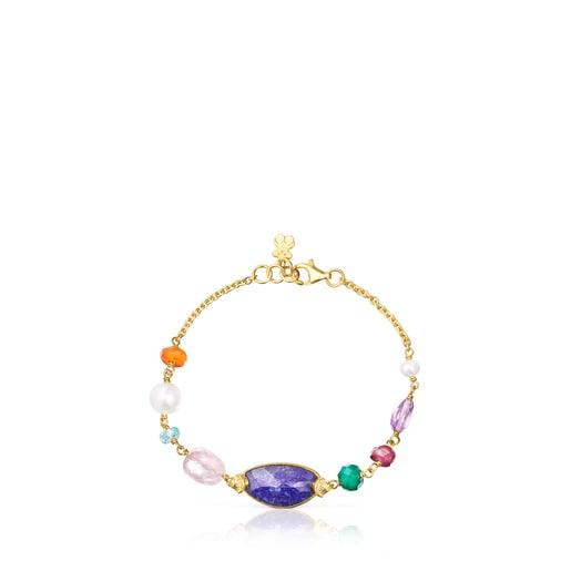 Silver vermeil Oceaan Color Bracelet with gemstones