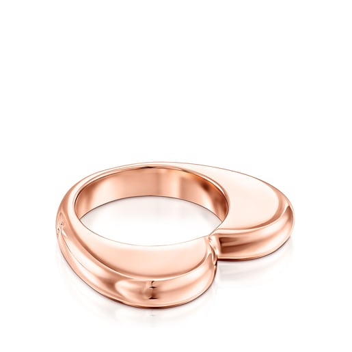 Ring New Sweet Dolls mit einem Herz aus rosafarbenem Vermeil-Silber