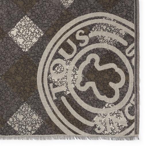 Pañuelo Kaos Mini Stamp Jacquard marrón