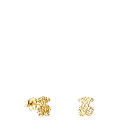 Gold Oceaan bear Earrings