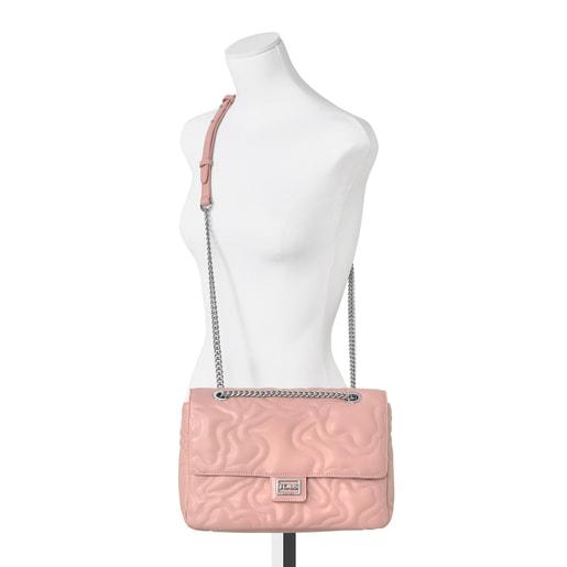 Mala a tiracolo média com aba Kaos Dream rosa