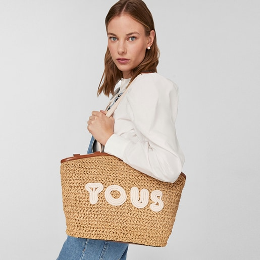 Brown and beige TOUS Craft Tote bag