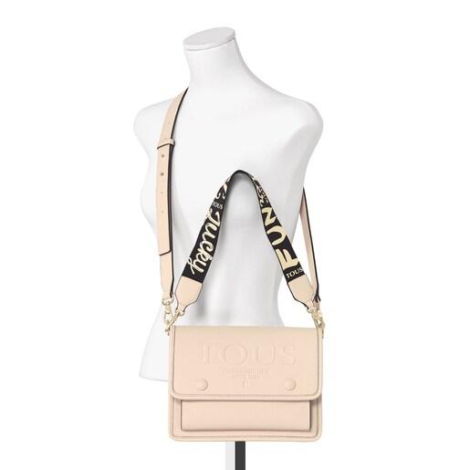 Medium beige Audree T POP crossbody bag