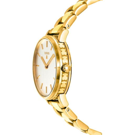 Gold-colored IP Steel Rond Straight Watch