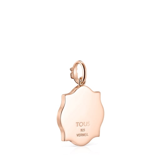 Medallions Respect & Smile Pendant in Silver Vermeil with Enamel