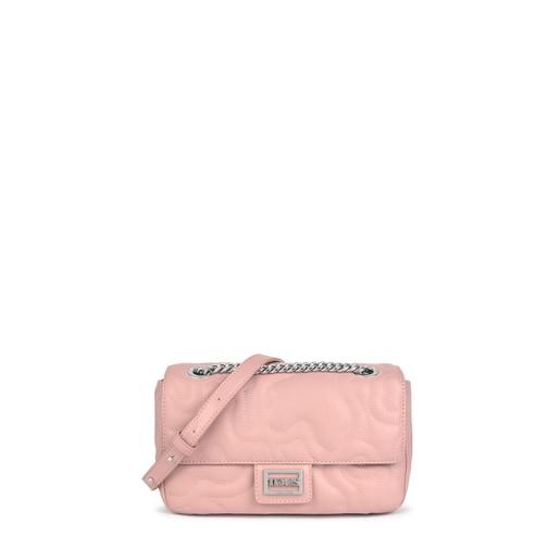 Bandolera pequeña con solapa Kaos Dream rosa
