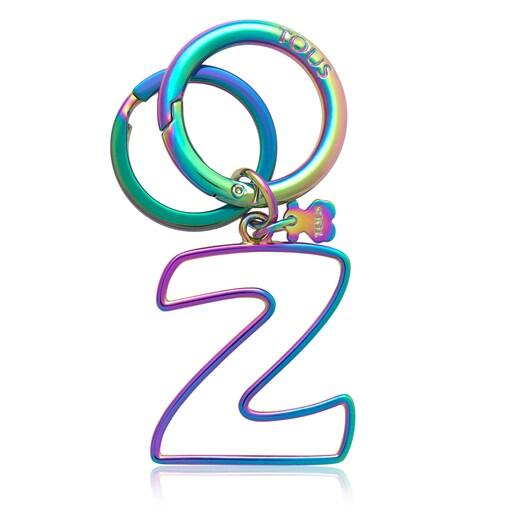 Iridescent Touscedario Letter Z Key ring