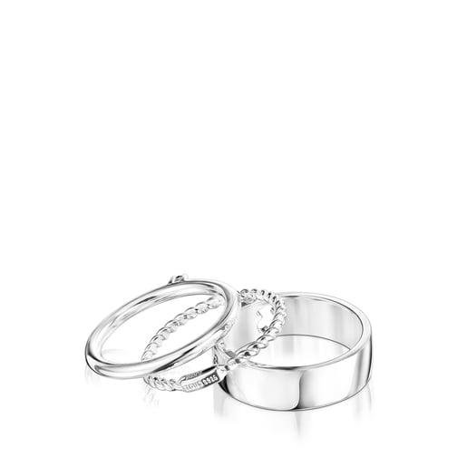 Pack de Anillos Ring Mix de plata y espinela
