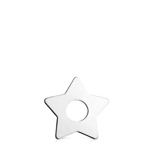 Colgante pequeño Hold Metal estrella de Plata