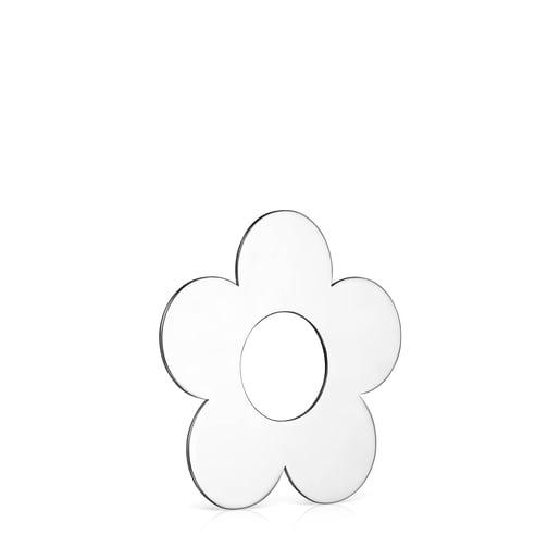 Dije grande Hold Metal flor de Plata