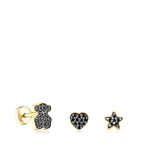 Pack of silver vermeil TOUS Basics Piercings with spinel