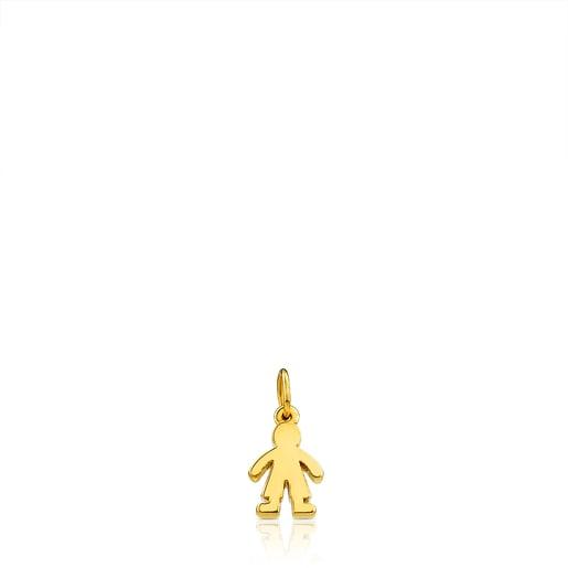 Gold Sweet Dolls Pendant Boy motif