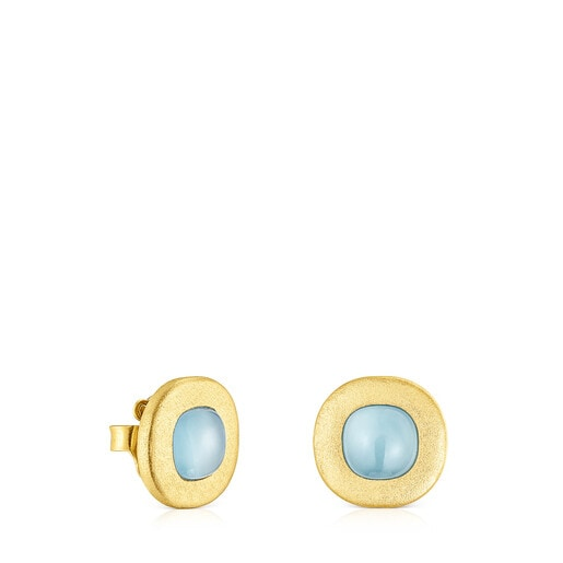 Silver vermeil Nattfall Earrings with chalcedony