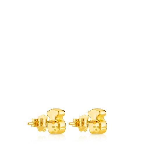 Pendientes de oro motivo oso de 0,8cm, Sweet Dolls