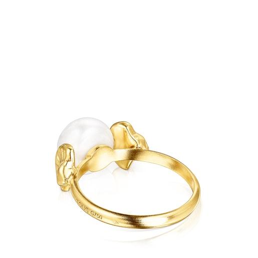 Anillo conchas de oro y perla Oceaan