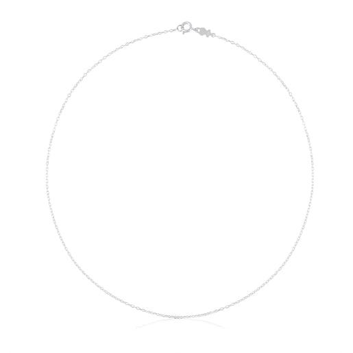 Cadena TOUS Chain de plata con anillas ovales, 45cm.
