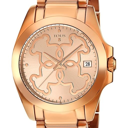 Pink IP Steel Mossaic Watch
