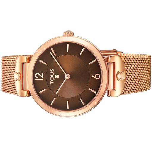 Reloj S-Mesh de acero IP rosado