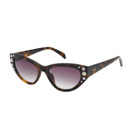Gafas de sol Square Bear Havana marrón