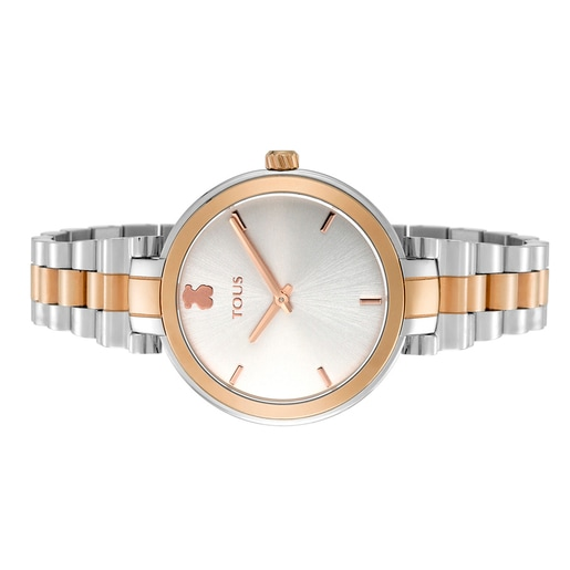 Two-tone pink IP/Steel Julie Watch