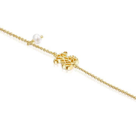 Pulsera Oceaan de oro y perla