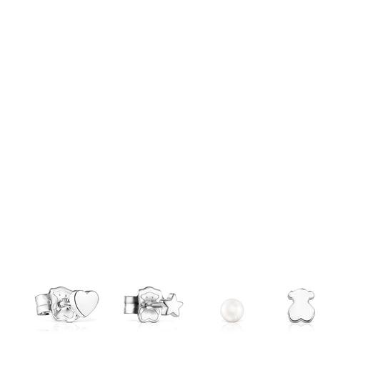 Ohrring-Set Cool Joy aus Silber und Perlen