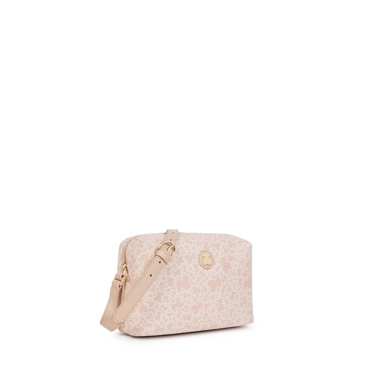 Bandolera mediana Kaos Mini de Lona en color rosa