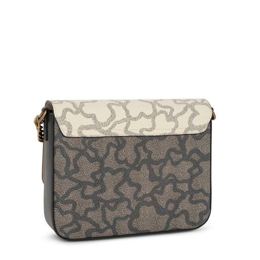 Small beige and brown Kaos Legacy crossbody bag