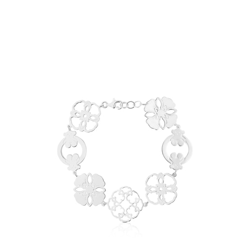 Silver Mossaic Power Bracelet