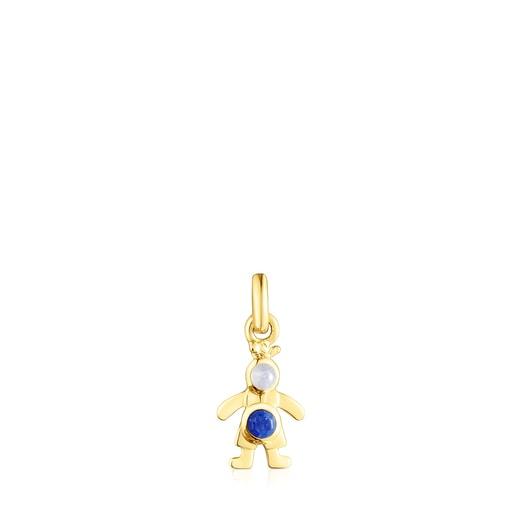 Silver vermeil Mama-boy Necklace set