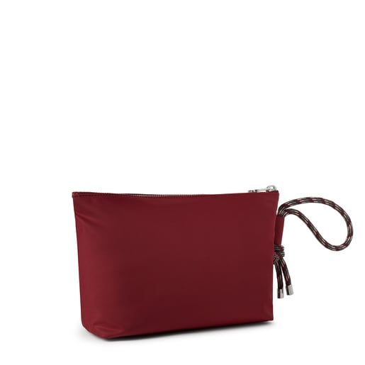 Large burgundy Empire Soft Chain Toiletry bag