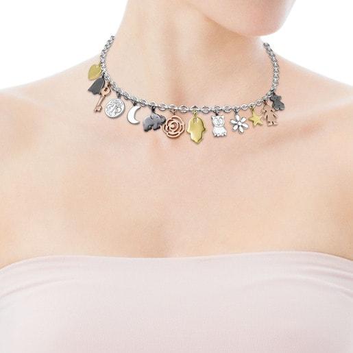 Collar Sweet Dolls de Plata, Plata Vermeil, Plata Vermeil rosa y Plata Dark Silver