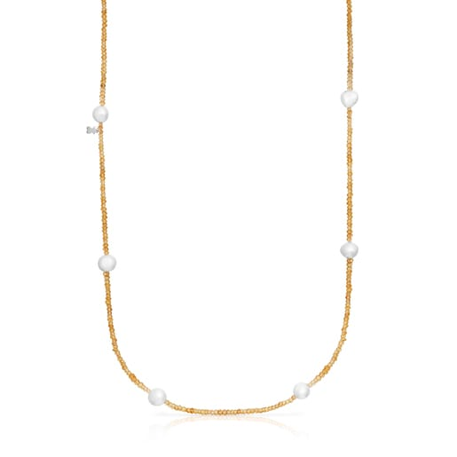 Karneol und Perle Sea Vibes Halskette