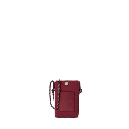 Mini burgundy Empire Soft Chain Hanging bag