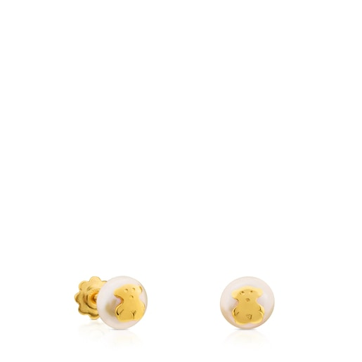 TOUS Pearls earrings set with bear