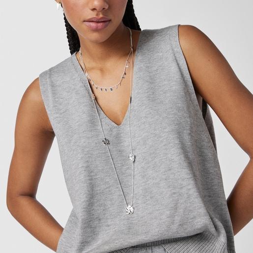 Collar largo Fragile Nature de plata