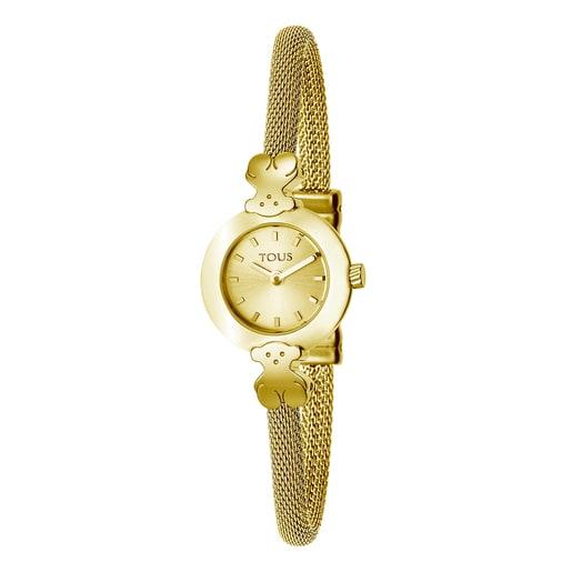 Relógio Chic Mesh em Aço IP dourado