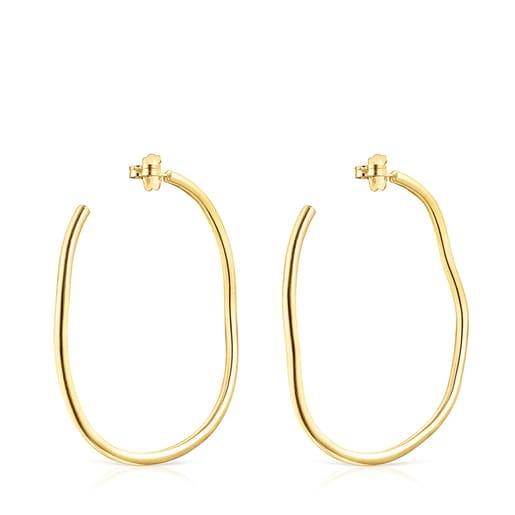 Silver vermeil Hav wave-shaped Hoop earrings