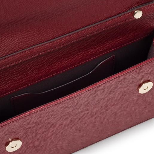 Small burgundy T Pop Crossbody bag
