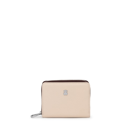 Medium beige and brown New Dubai Change purse
