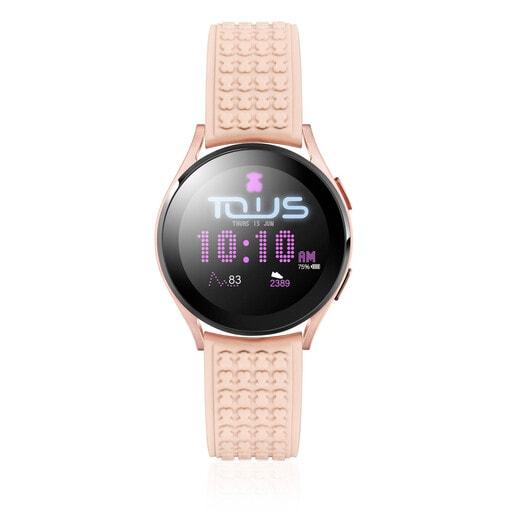 Relógio Samsung Galaxy Watch 4 for TOUS de alumínio rosado com correia em silicone