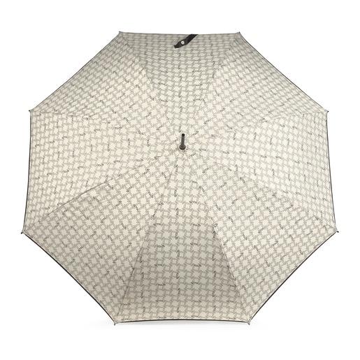 Paraguas grande Logogram beige