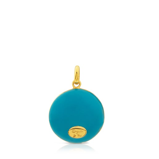 Vermeil Silver Tanuca Pendant with blue Enamel