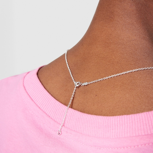 Silver New Color Necklace with Quartzite