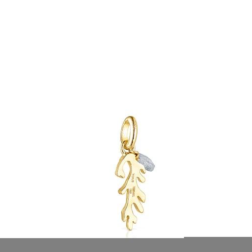 Silver vermeil Oceaan Color Pendant with labradorite