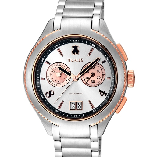Reloj ST bicolor de acero/IP rosado