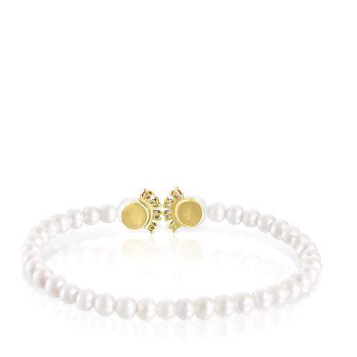 Pulsera Real Sisy de Perlas y Oro con Gemas