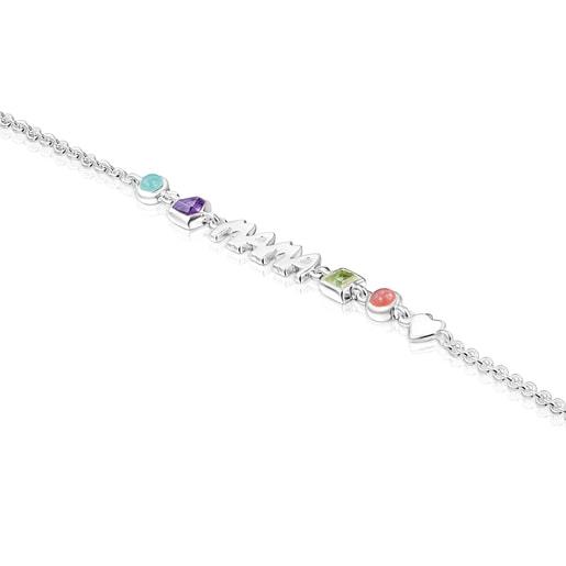 Armband TOUS Mama aus Silber mit Edelsteinen