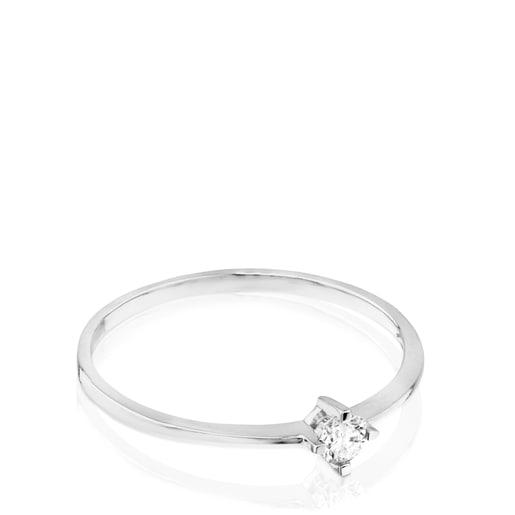 Anell TOUS Brillants d'Or blanc amb Diamant