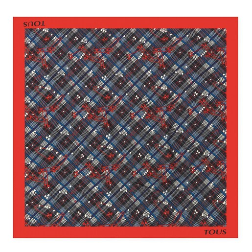 Red TOUS Tile Corine Scarf